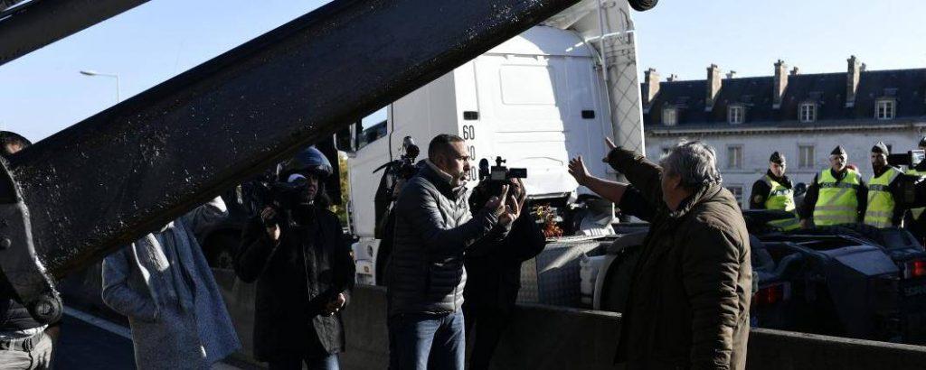 Le fait d'entraver la circulation est punissable de deux ans de prison et 4.500 euros d'amende. © Bertrand GUAY / AFP